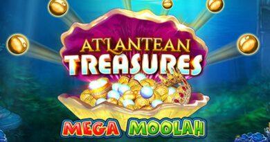 Atlantean Treasures Mega Moolah gokkast Microgaming