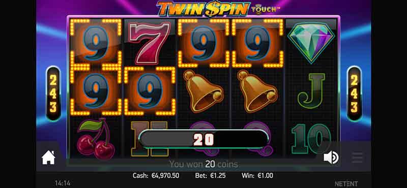 Online gokkasten: Twin Spin NetEnt iPhone