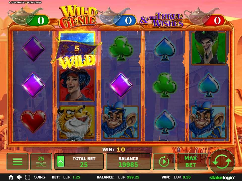 Wild Genie videoslot Stakelogic