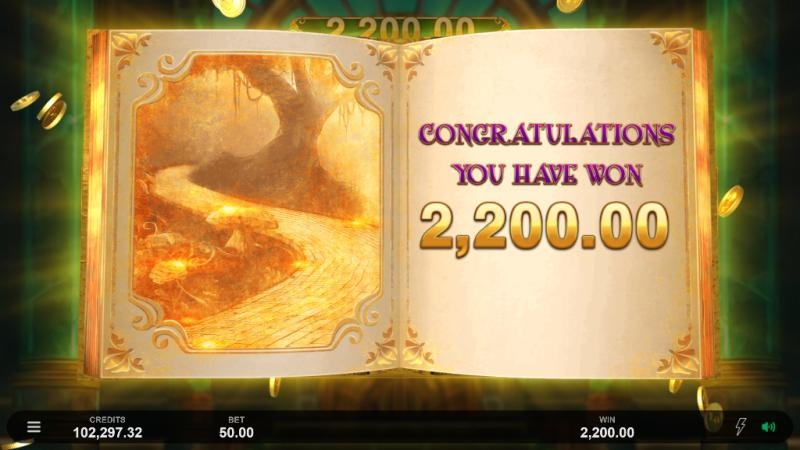 Book of Oz Lock N Spins big win