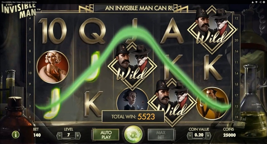 invisible man video slot