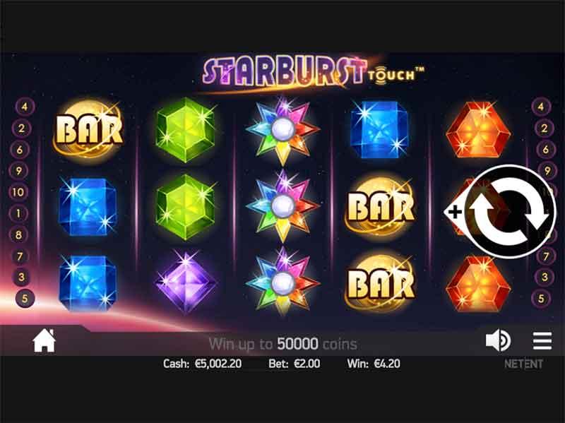 iPad Casino Starburst NetEnt