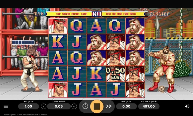 Street Fighter 2 gokkast screenshot